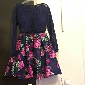 Two piece skirt and top formal dress worn once